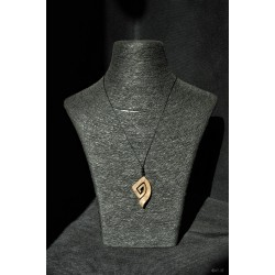 collier spirale triangle en...